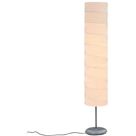 Lámpara de pie con soporte blanco E27 121 cm