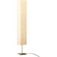 Lámpara de pie con soporte de acero 170 cm beige