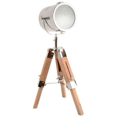 "Lámpara de pie con trípode ""BOGART"" acabado bronce"