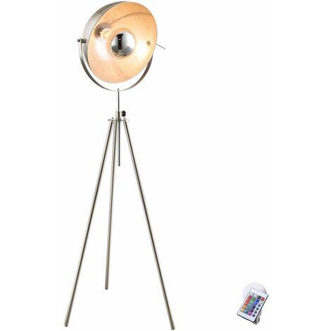 Lámpara de pie Control remoto de la sala de estar Atenuador Lámpara de pie giratoria en el conjunto, incluidas bombillas LED RGB