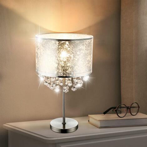 Lámpara de pie de mesa lámpara de techo de hoja de plata cristales del proyector en el conjunto incluyendo bombillas LED