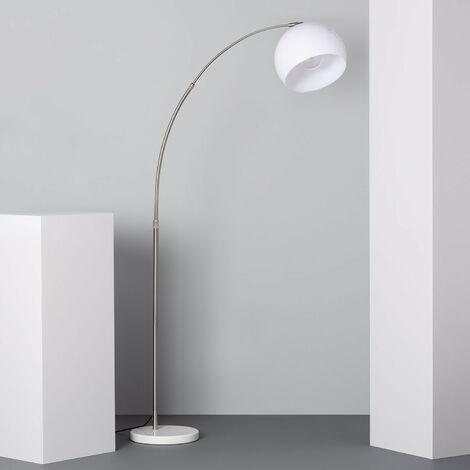 Lámpara de Pie Gebogen Plata - Plata