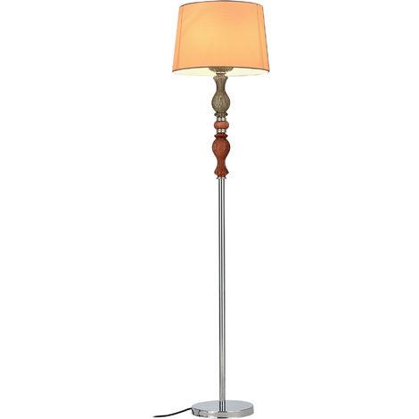 Lámpara de pie - LandLord - (casquillo 1 x E27)(155 cm x Ø 35 cm) (casquillo 1 x E27) (155 cm x Ø 35 cm) - lámpara de lectura - pantalla blanca