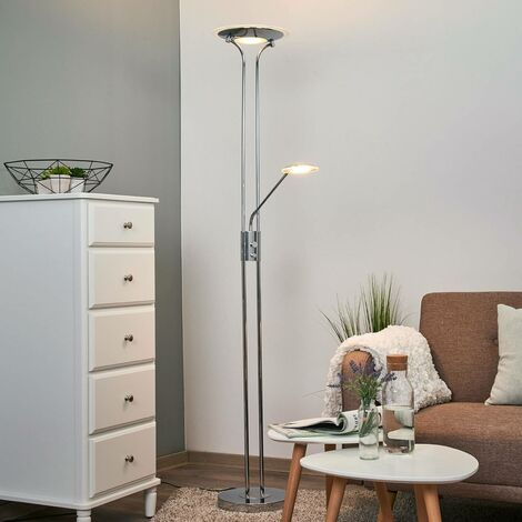 Aras de Lámpara pie luz de con LED lecturacromo yO0vnNm8wP