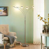 Lámpara de pie LED Catriona 5 luces, atenuador