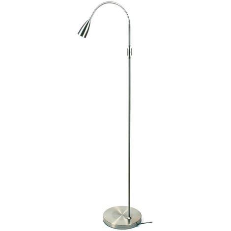 Lampara de pie LED COLLUM acero mate bombilla led GU10