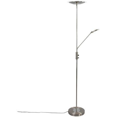 Lámpara de pie LED foco a techo Eda con atenuador