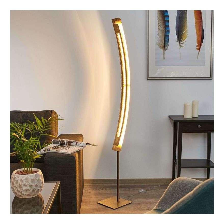 LED Lámpara pie Lolina dorado con de acabado EI9DWYH2