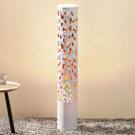 Lámpara de pie LED Organic blanca, Flame Bulb