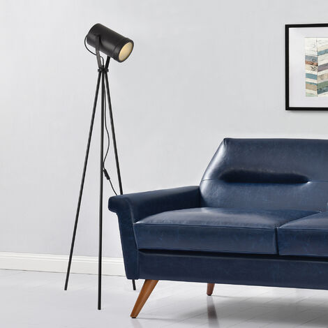 Lámpara de pie - Modelo Split - Altura total: 151 cm - Luz - Iluminacón interior - Plástico, Metal - Negro