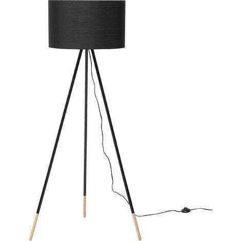 Lámpara de pie negra TOBOL