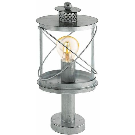 Lámpara de pie para exteriores plata antigua VINTAGE iluminación de jardín patio senderos base lámpara de pie Eglo 94867