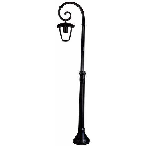 Lámpara de pie para jardín Serie Farolillo Classic Design IP44 Negro