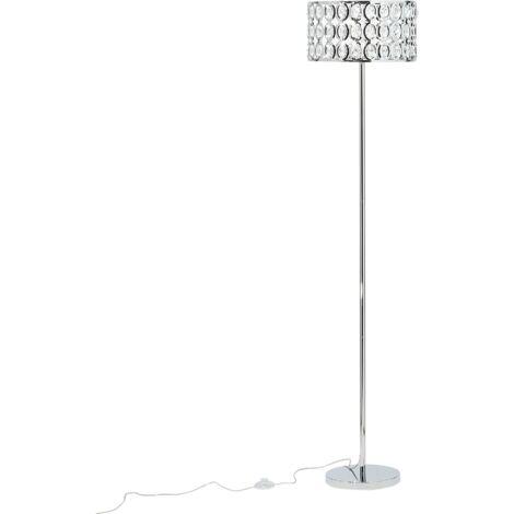 Lámpara de pie plateada TENNA