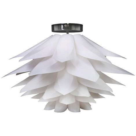 Lámpara de puzzle DIY máx. 60 W Ø 330 mm, Color blanco, lampara de techo con diseño de flor de loto, E27, 230V, IP20