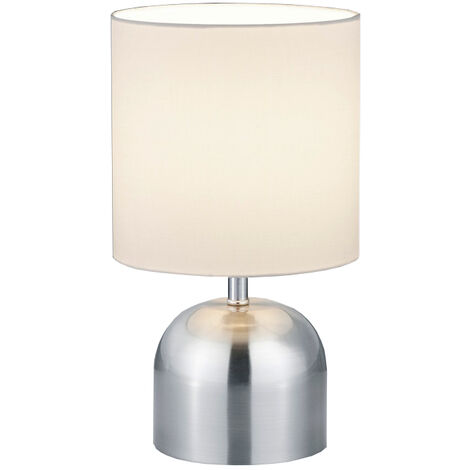 Lámpara de sobremesa color níquel Jan