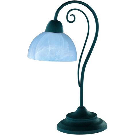 Lámpara de sobremesa de metal y vidrio modelo Country E14 (Trio Lighting R5031-24)