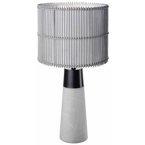 Lámpara de sobremesa lámpara de hormigón gris bambú aplicación control de teléfono móvil en un juego que incluye lámparas LED RGB