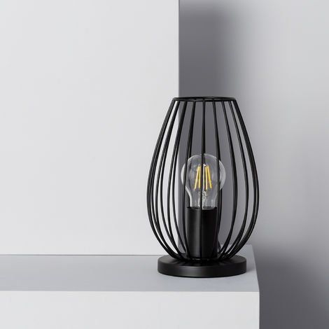 Lámpara de Sobremesa Telmi Negro Negro