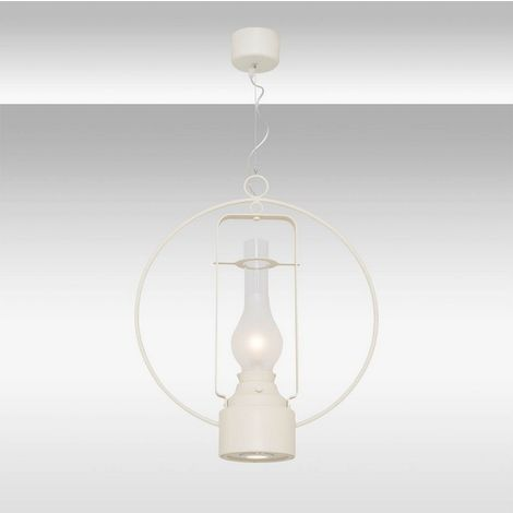 Lampara de Suspension Alex Colgante - de Techo - Blanco en Vidrio, Metal, 50 x 50 x 120 cm, 1 x Tira LED, 5W, 1 x Tira LED, 3W, 800LM, 3000K Luz Blanca Natural