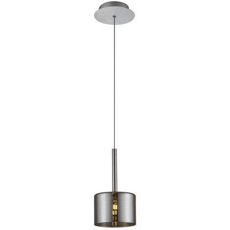Lampara de Suspension Bibu Colgante - Cilindrica - de Techo - en Vidrio, 14 x 14 x 120 cm, 1 x G4 Led , 20W