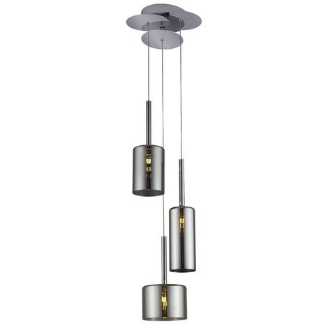 Lampara de Suspension Bibu Colgante - Cilindrica - de Techo - en Vidrio, 23 x 23 x 120 cm, 1 x G4 Led , 60W
