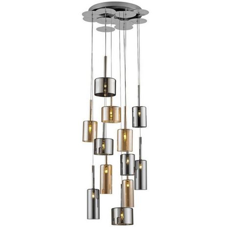 Lampara de Suspension Bibu Colgante - Cilindrica - de Techo - en Vidrio, 50 x 50 x 160 cm, 1 x G4 Led , 240W
