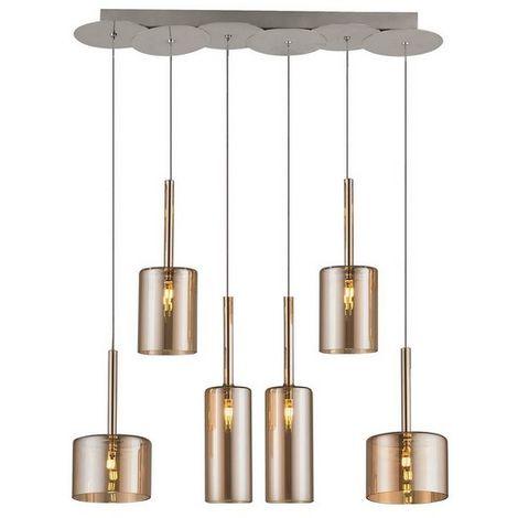 Lampara de Suspension Bibu Colgante - Cilindrica - de Techo - en Vidrio, 65 x 14 x 120 cm, 1 x G4 Led , 120W