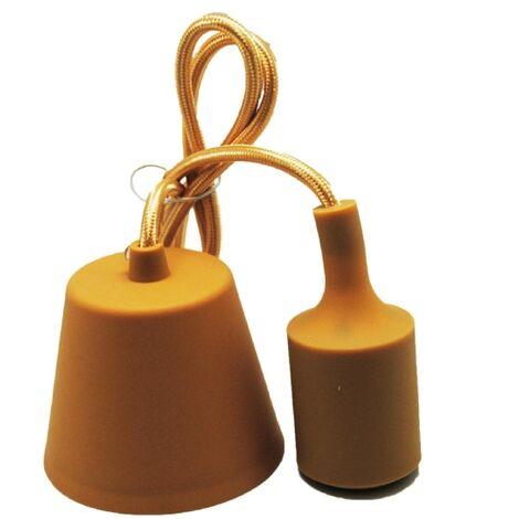 Lámpara de suspensión de silicona dorado (F-Bright 1301022-DO)