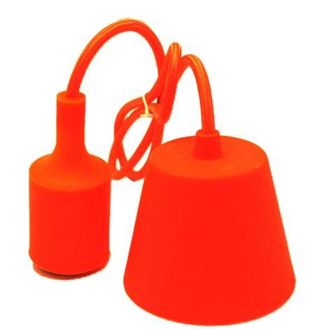 Lámpara de suspensión de silicona naranja (F-Bright 1301022-NA)