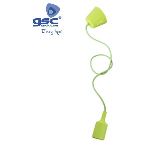 Lámpara de suspensión de silicona verde (GSC 0702185)