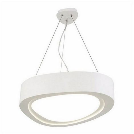Lampara de Suspension Meriva Colgante - de Techo - Blanco en Metal, 54 x 54 x 120 cm, 6 x Tira LED, 24W, 2520LM, 4000K Luz Blanca Natural