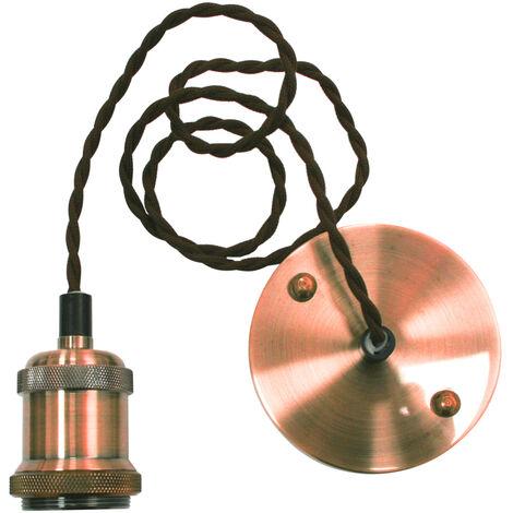 Lámpara de suspensión Vintage de cobre E27 1200mm. (Electro DH 12.099/CO)