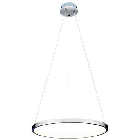 Lampara de Suspension Yorunge Colgante - Redondo - de Techo - en Metal, 40 x 40 x 120 cm, 1 x LED, 25W, 2625LM, 4200K Luz Blanca