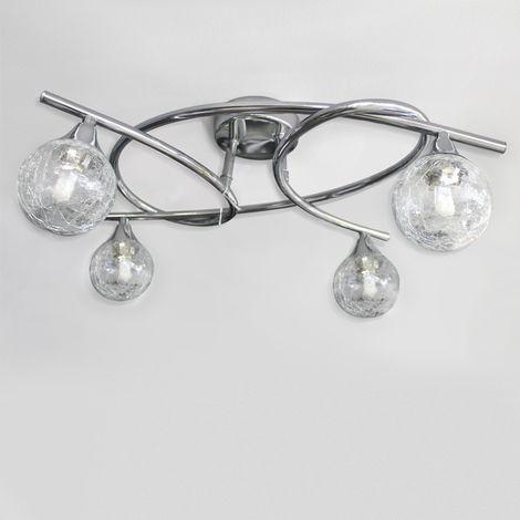 Lámpara de techo 4 luces LOTTO CROMO CRISTALRECORD 001-2195-4-016