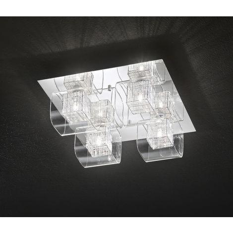 Lámpara de techo 4 luminarias cromadas p PERENZ 5932