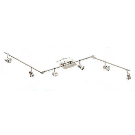 Lámpara de techo 6 focos ARCO cuero CRISTALRECORD 014-2000-6-056