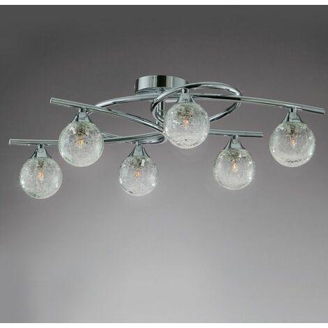 Lámpara de techo 6 LUCES LOTTO CROMO CRISTALRECORD 001-2195-6-016
