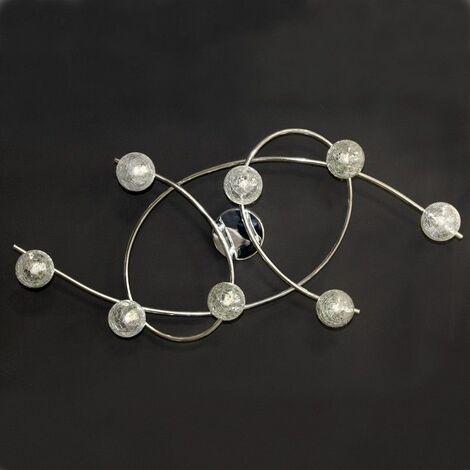 Lámpara de techo 8 luces LOTTO CROMO CRISTALRECORD 001-2195-8-016