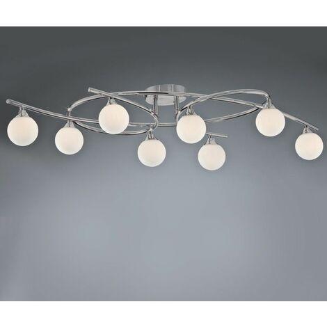 Lámpara de techo 8 luces LOTTO NIQUEL SATINADO CRISTALRECORD 001-2195-8-053