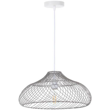 Lámpara de Techo Akame Gris 42,5x42,5x18cm 7hSevenOn Deco