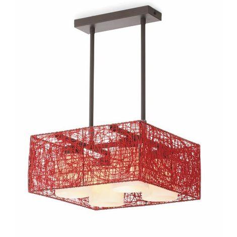 Lámpara de techo Alexandra roja CRISTALRECORD 99-264-15-142