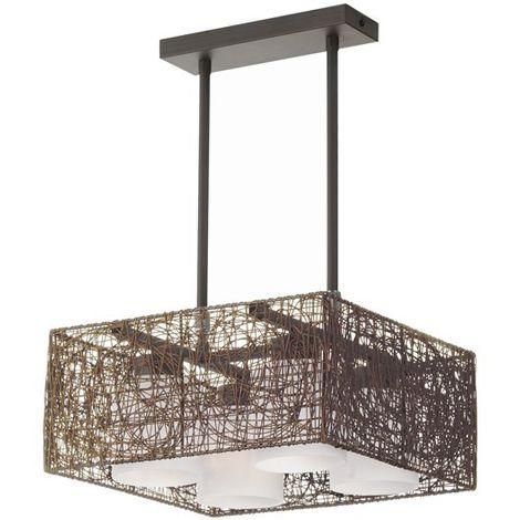 Lámpara de techo Alexandra wengue CRISTALRECORD 99-264-15-115