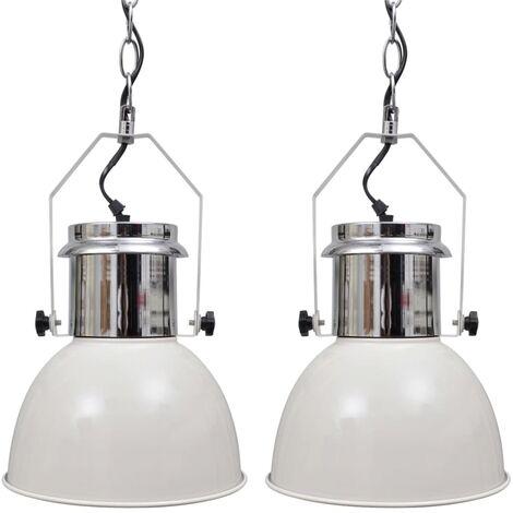 Lámpara de techo altura ajustable moderna metal negro 2 uds