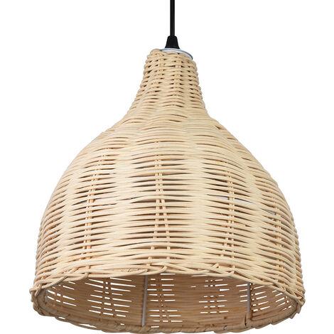 "main image of ""Lámpara de techo Baro diseño Boho- Bambú Madera natural"""