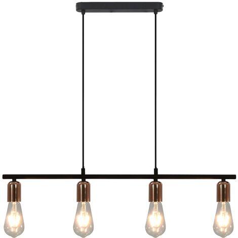 Lámpara de techo bombillas filamento 2W negro cobre E27 80 cm