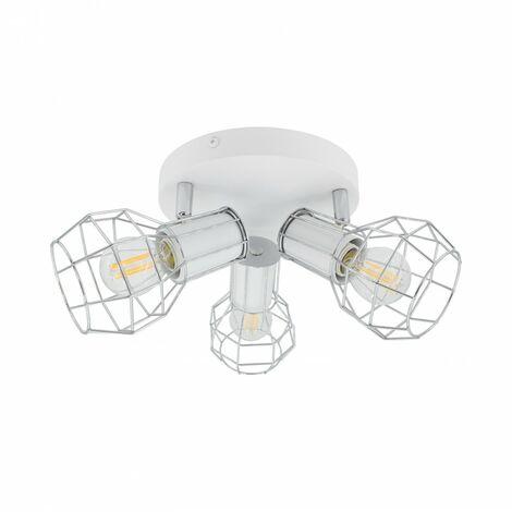 Lámpara de Techo Circular Orientable Lada 3 Focos Blanco Blanco