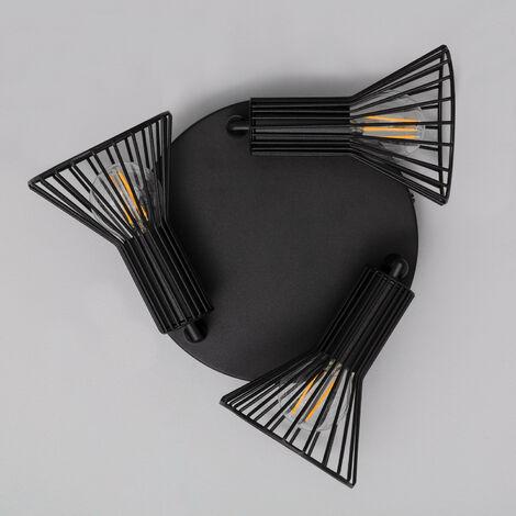 Lámpara de Techo Circular Orientable Royal 3 Focos Negro Negro