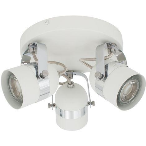 Lámpara de Techo Circular Orientable Sinner 3 Focos Blanco Blanco