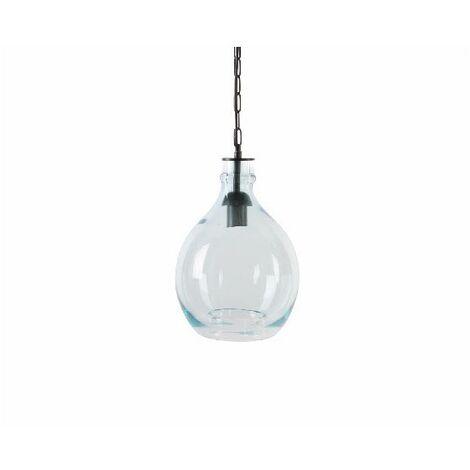 Lámpara de Techo Colgante Cristal Transparente Diseño Vintage